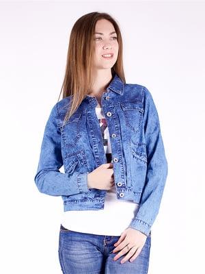 Куртка синяя джинсовая | 5224713