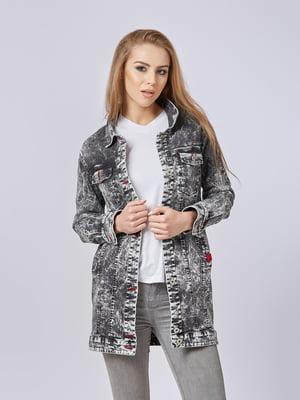 Куртка чорна джинсова | 5224725