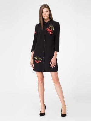 Платье черное с вышивкой | 5227162