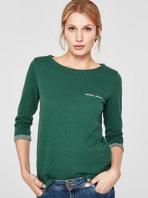 Джемпер зеленый в горошек | 5218628