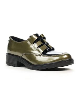 Туфлі чорно-оливкового кольору | 5202960