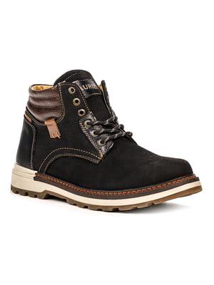 Ботинки черно-коричневые | 5219001