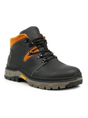 Ботинки черно-рыжего цвета | 5225024
