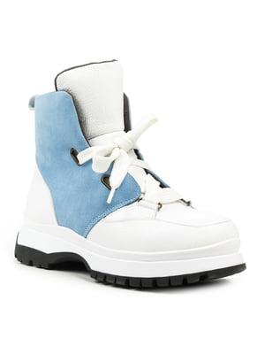 Ботинки бело-голубого цвета | 5225014