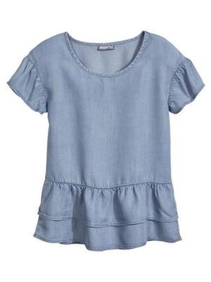 Блуза голубая   5228757