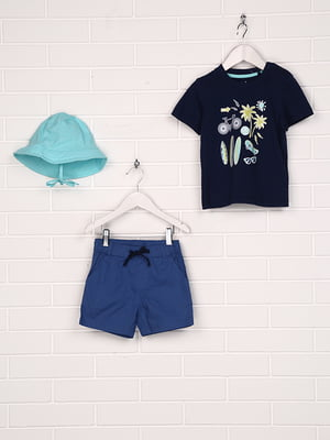 Комплект: шорты, футболка и панамка | 5228999