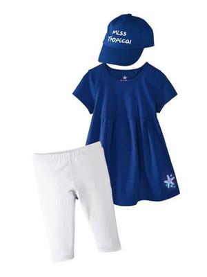 Комплект леггинсы, платье и кепка | 5229145