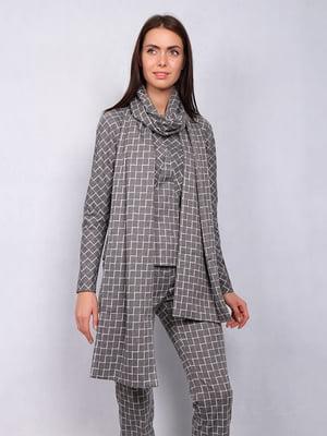 Костюм: блуза, брюки и шаль | 4836832