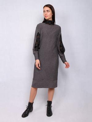 Платье серое в полоску   5109810