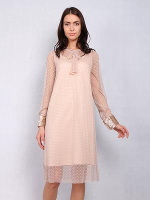 Платье бежевое | 5109863