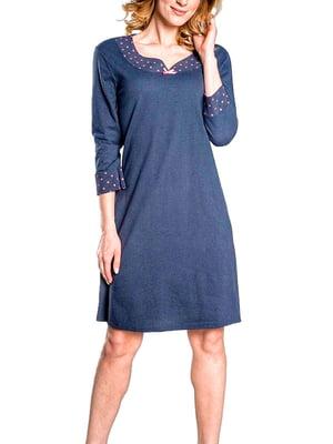 Рубашка ночная синяя | 5231282