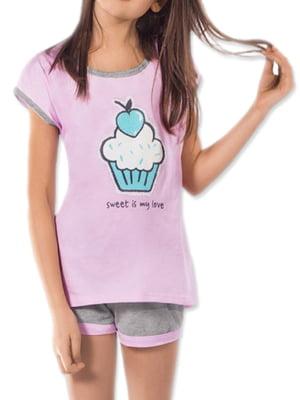 Комплект домашний: футболка и шорты | 5231286