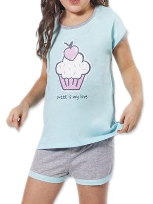 Комплект домашний: футболка и шорты | 5231287