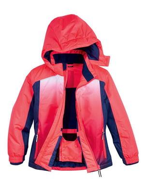 Куртка лыжная розово-синяя | 5225849