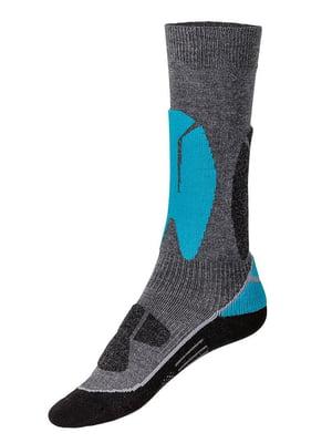 Носки лыжные серо-голубые | 5229719