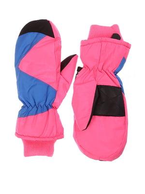 Варежки лыжные розовые | 5229721