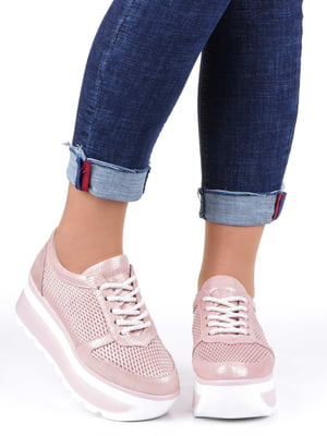 Кроссовки розовые | 5232257