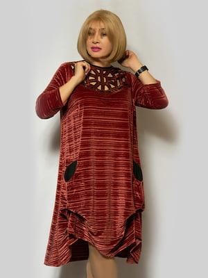 Платье бордовое | 5232368
