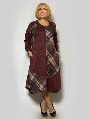 Платье бордовое   5232400