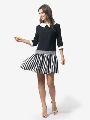 Сукня чорна в смужку | 5232504