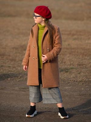 Пальто світло-коричневе | 5232900