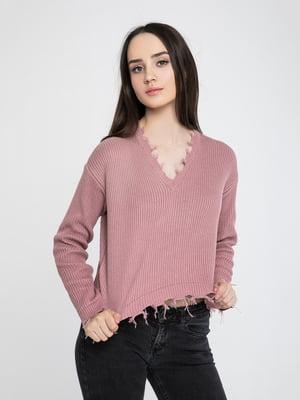 Пуловер кольору пудри | 5237675