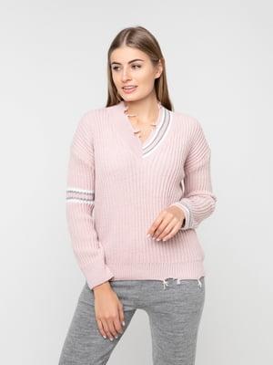 Пуловер кольору пудри | 5237692