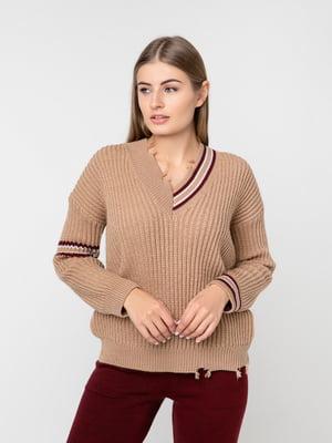 Пуловер коричневий | 5237698
