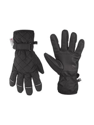 Перчатки лыжные черные | 5232521