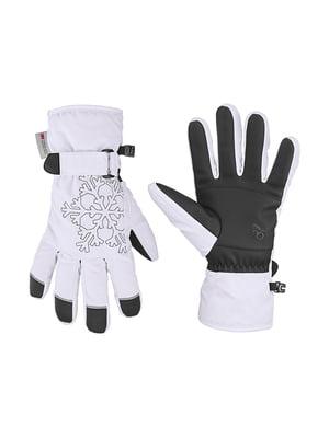 Перчатки лыжные белые | 5232522