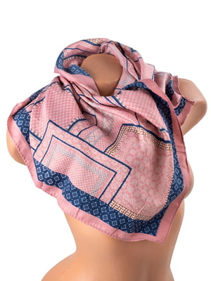 Платок розовый с принтом | 5241717