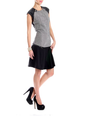 Платье черно-серое | 5241768