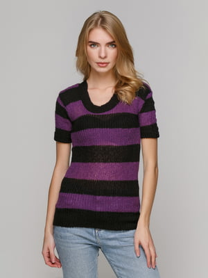 Джемпер чорно-фіолетовий | 5215903