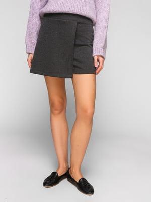 Спідниця-шорти темно-сіра | 5211793