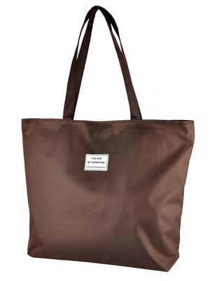Сумка-шоппер коричневая | 5243579