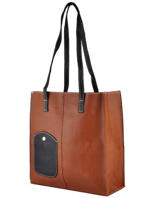 Сумка-шоппер коричневая | 5243586