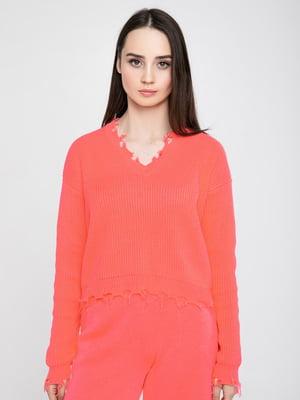 Пуловер кораловий | 5243693
