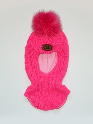Шапка-шолом рожева | 5243939