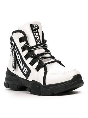 Черевики біло-чорні | 5231840