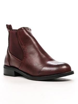 Ботинки бордовые | 5243990