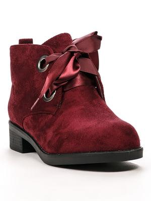 Ботинки бордовые | 5244045