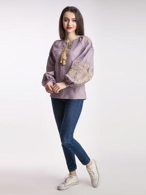 Сорочка-вишиванка лілова | 5246080