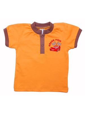 Футболка оранжевая | 5247042