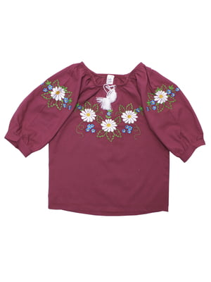 Блуза бордовая | 5247563