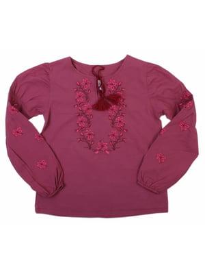 Блуза-вышиванка бордовая | 5247567