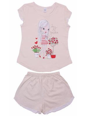 Піжама: футболка і шорти | 5247600