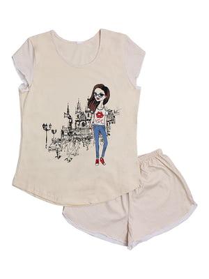 Пижама: футболка и шорты | 5247601