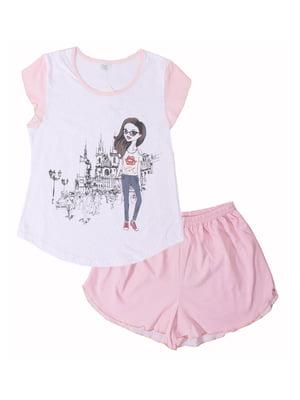 Піжама: футболка і шорти | 5247645