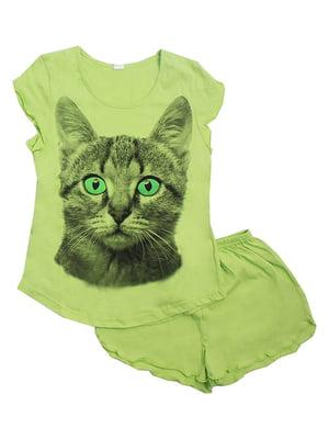 Пижама: футболка и шорты | 5247651