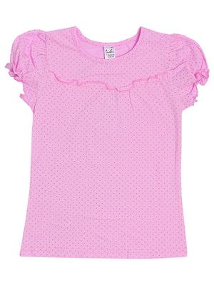 Блуза розовая в горох | 5247916